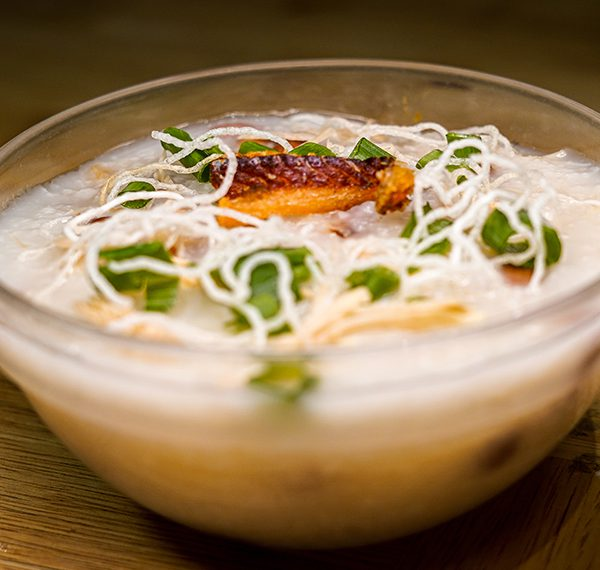 Dried Cod Fish and Peanut Congee