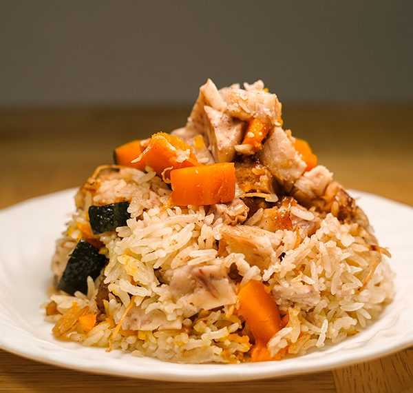Fragrant Yam and Pumpkin Rice